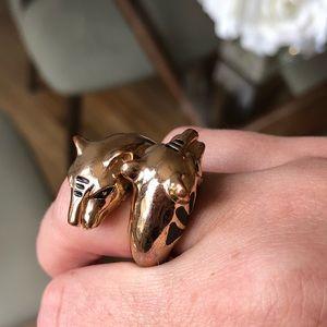 Gold Cougar Ring
